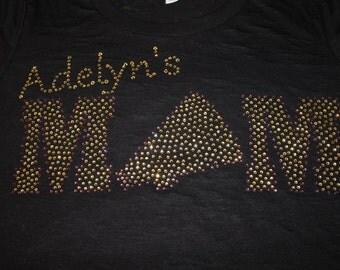 Cheer Mom Shirt, Cheer Mom Tank, Cheerleader Mom Shirt, Cheer Bling, Personalized Cheer Shirt, Sports Shirt, Cheerleader Mom, Cheer Mom