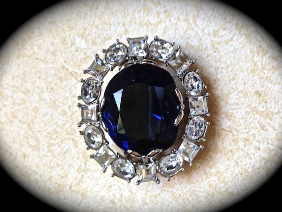 Vintage Blue Hope Diamond Replica Brooch Smithsonian Institute
