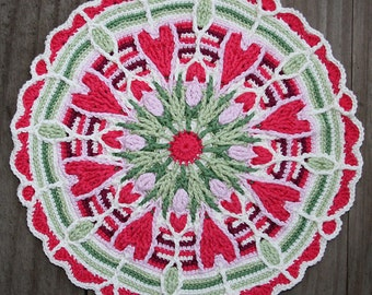 Crochet Overlay Mandala  No. 4 Pattern PDF