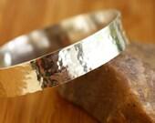 Wide sterling silver bangle bracelet- Ripples