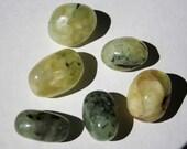Prehnite With Epidote Inclusions Tumbled Medium Sized Stone