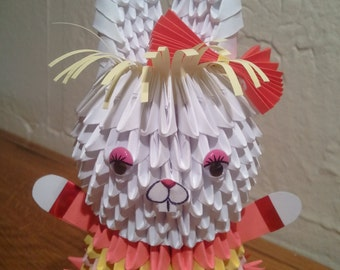 3D origami Bunny girl KIT