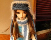 Blue Crocheted Hat and Scarf YOSD MSD