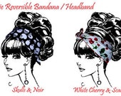 Reserved for Paula B   2 Rockabilly Rosie Reversible Bandanas