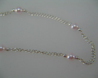 Pearl Bracelet,Dainty Pink Pearl and Silver Bracelet, Girls and Womens Silver Jewelry, Prom Jewelry