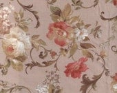 Rose floral Graceful flower fabric 2 yards , japanese import fabric