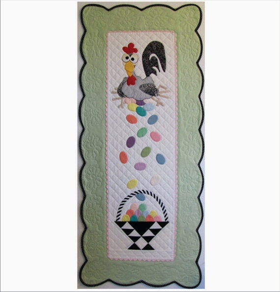 Esther The Easter Chicken Table Runner Or Wall Hanging Pattern