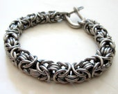 Mens Bracelet, Byzantine III 16g Chain, Stainless Steel Jewelry, Mens Silver Bracelet, Jewelry For Him, Unique Mens Bracelet, Chainmail