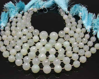1strand - natural calcedony faceted ball