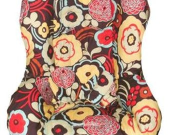 Britax Roundabout / Marathon Car Seat Cover Mocca Flowers (Universal Fit)