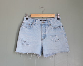 10 Dollar Sale Vintage 90s Bill Blass Cut Off Denim Shorts Women S - Destroyed