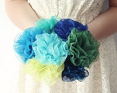 Five Bridesmaid Hair Clips and Brooches