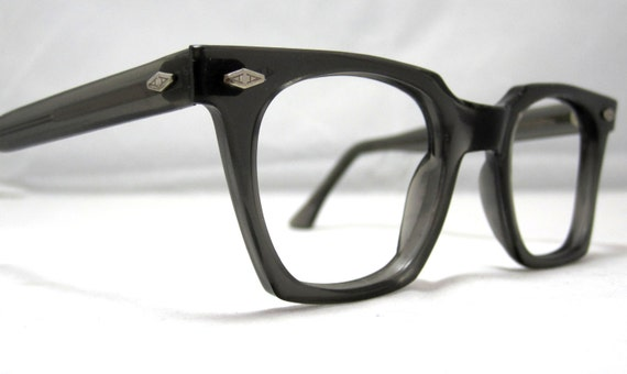 Eyeglass Frames Fairview Heights Il : Vintage EyeGlasses Frames Mens Horn Rim Gray Glasses. Mad Men
