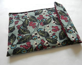 Teal Floral Netbook/iPad Sleeve