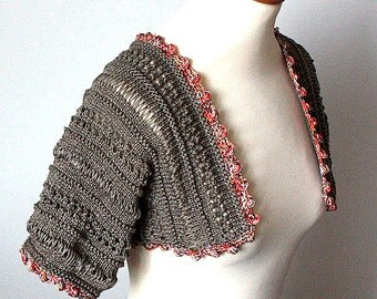 Knitting Pattern (pdf file) Summer Bolero ( sies S-M-L)