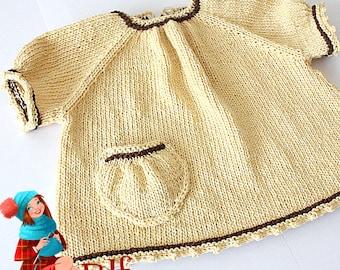 Knitting Pattern (PDF file) Sweet T-shirt (sizes 0 up to 2 years)