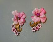 Fuchsia Flower Earings