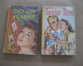 two 1950s vintage young adult books with great cover art