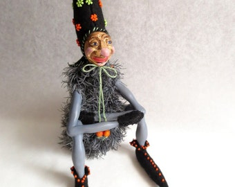 Troll, Art Doll, Whimsical Doll