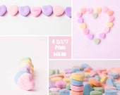 Save 25% on (4) Candy Heat Prints. Discounted Set - Pastel Colors - Sale Print Set - Home Decor - Girls Room - Nursery Decor - Pink Kitchen