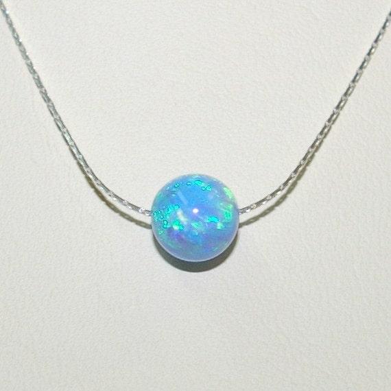 6 pieces 8mm Light BLUE OPAL Gemstone - 29.4KB