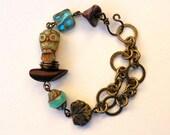 Owl Bracelet,Owl Jewelry,Cute Owl Bracelet,Bird Nest Bracelet