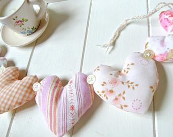 Heart Garland Decoration Pastels