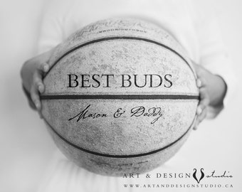 Best Buds Dad Son Print, Personalized Father Gift, Custom Gifts for Men, Cute Dad Gifts From Child Son, Gift Ideas Under 25, Art Print