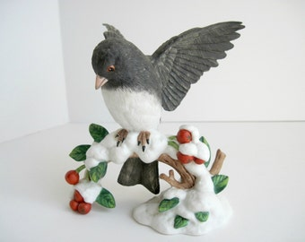Lenox Porcelain Dark-Eyed Junco Figurine 1991