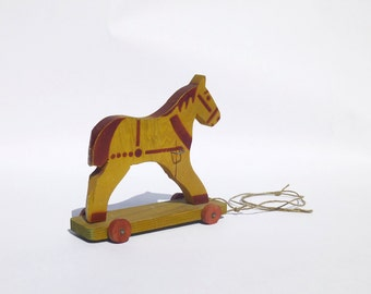 French Wooden Horse - Rocker Pull Toy for Le Printemps Department Store