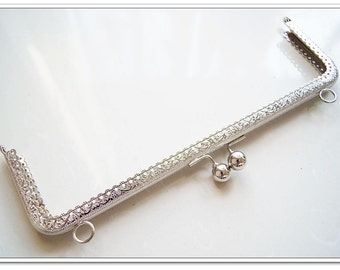 10 inch silver clutch frame sewing metal purse frame purse making supplies