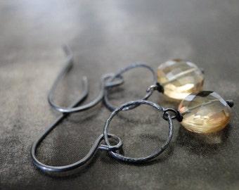 Delicate Gemstone Earrings, Sterling, Citrine Drop Earrings, Gemstone Earrings, Mother's Day, Gift for Her, Accessories
