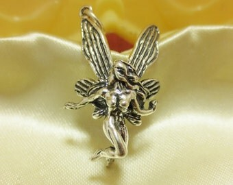 FAIRY WOMAN Sterling Silver  Charm or Pendant