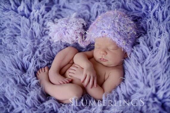Newborn Pixie Elf Hat Photo Prop in Lavender Purple Pink