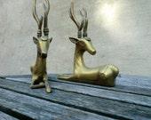 Solid Brass Deer  -- treasury item