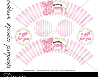 "Printable ""Bachelorette"" Designer Cupcake Wrappers"