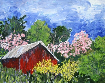 "Original Painting - 9X12 Acrylic Painting by Patty Fleckenstein,""A Burst Of May"""
