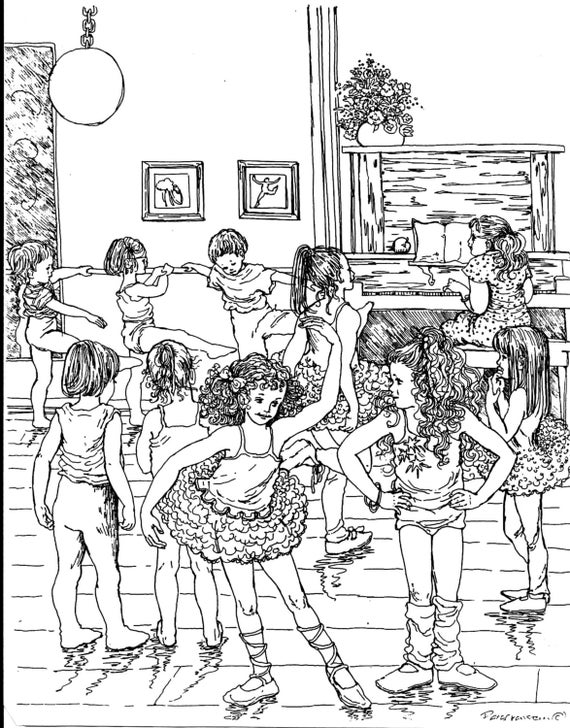 ballet coloring pages for adults - photo#27