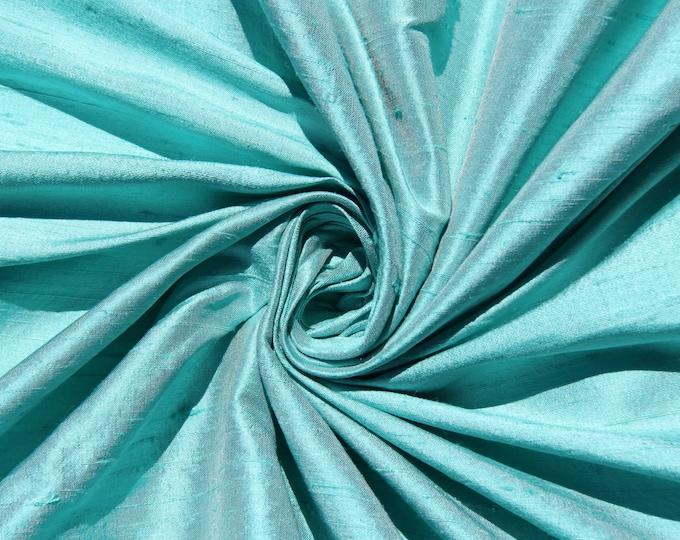 Robin's Egg Blue Wedding Bridal 100% Dupioni Silk Fabric Wholesale Roll/ Bolt