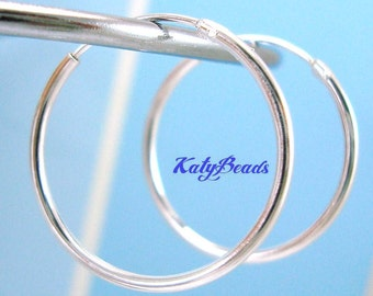 10 pieces 16mm sterling silver round endless hoop earring  E63