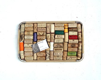 Wine Cork Board Repurposed from a Retro Tray