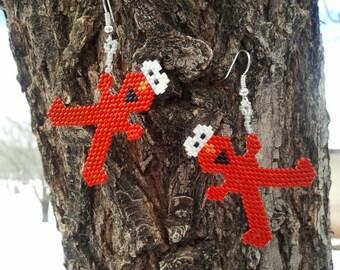 Native American Made Elmo Earrings