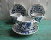 Vintage Blue Danube Cups&Saucers