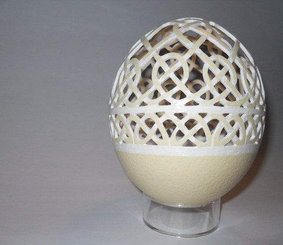 Celtic Knot Ostrich Egg