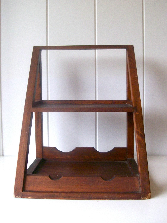 vintage wine glass shelf rack dark by thequeenofquitealot. Black Bedroom Furniture Sets. Home Design Ideas