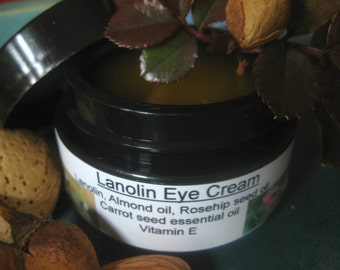 Lanolin eye cream, fine lines, under eye dark circles, moisturizer, eye care