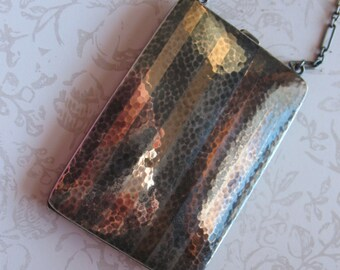 Exquisite 1920s Watrous Sterling Silver 14K Dance Purse