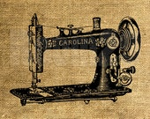 INSTANT DOWNLOAD - Vintage Sewing Machine - Download and Print - Image Transfer - Digital Sheet by Room29 - Sheet no. 899