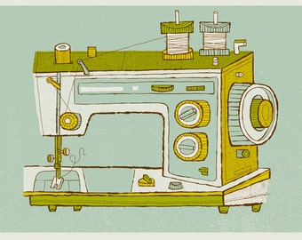 Sewing Machine art print