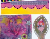 pinks and yellows art journal collage sheet